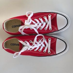 Converse Red all Star Low Top Shoes